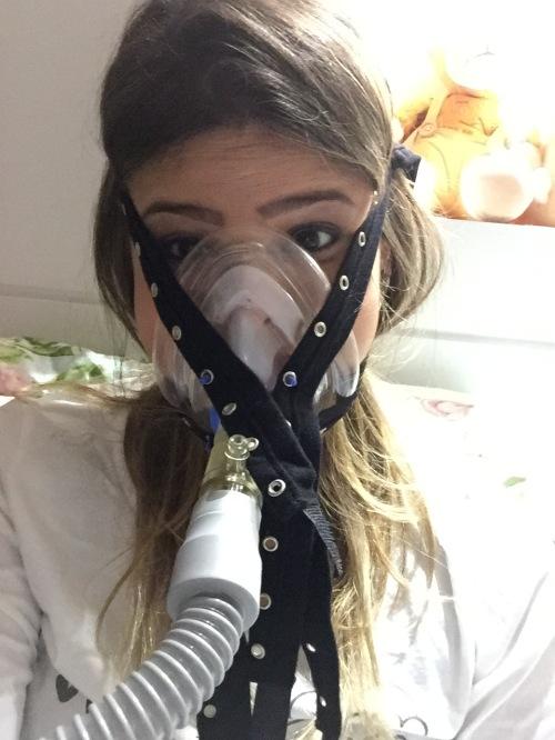 Fotos no BIPAP, na fisio respiratória